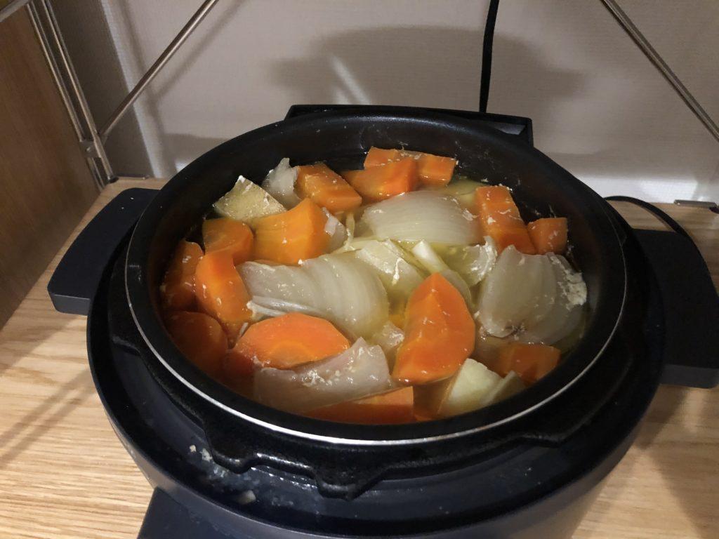 電気圧力鍋カレー 調理手順⑦