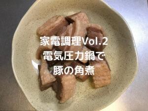 【家電調理】料理素人が電気圧力鍋で豚の角煮を作る!