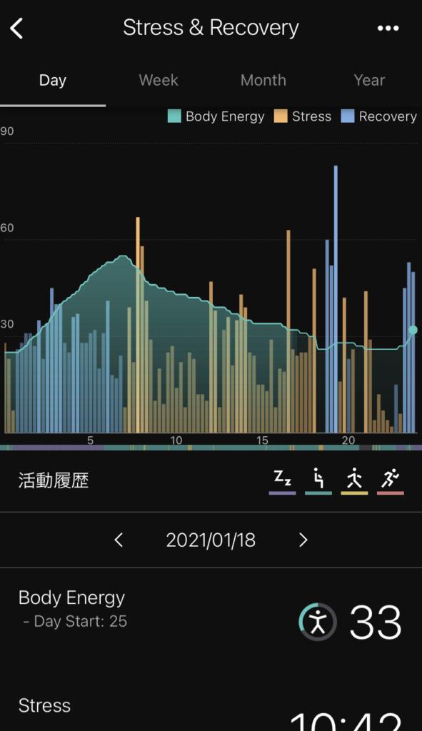 wena3アプリ エネルギー残量画面
