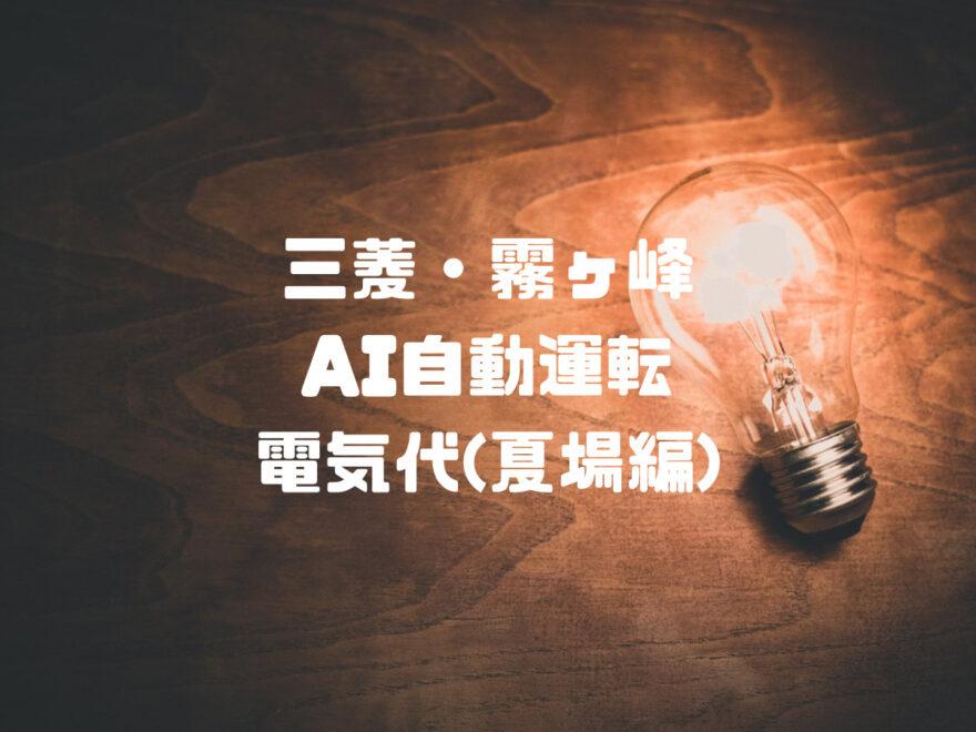 ムーブアイmirA.I.+(ミライプラス)夏場の電気代実記録まとめ