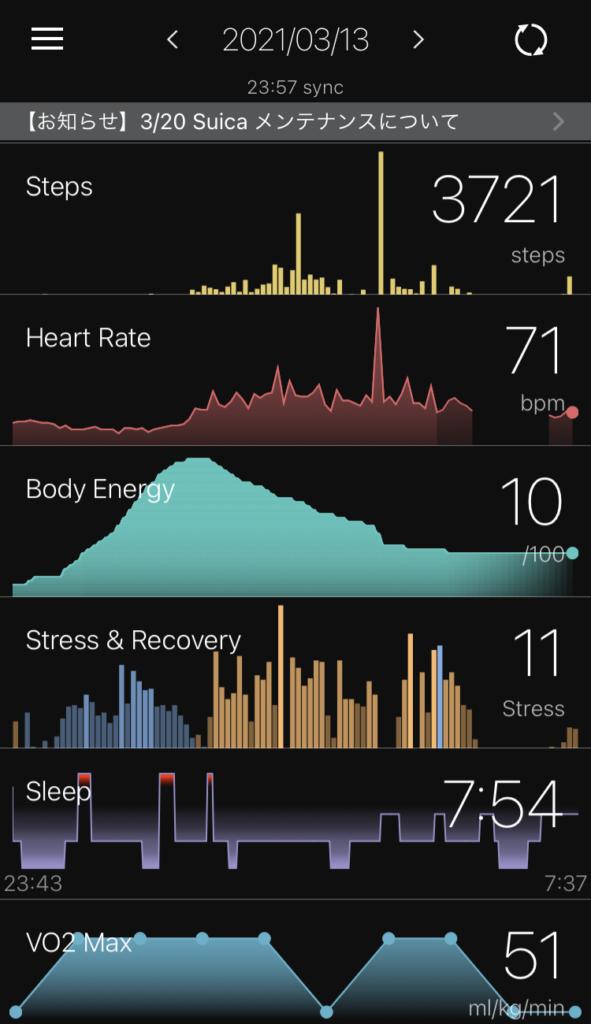 wena3 活動量計・睡眠ログ機能
