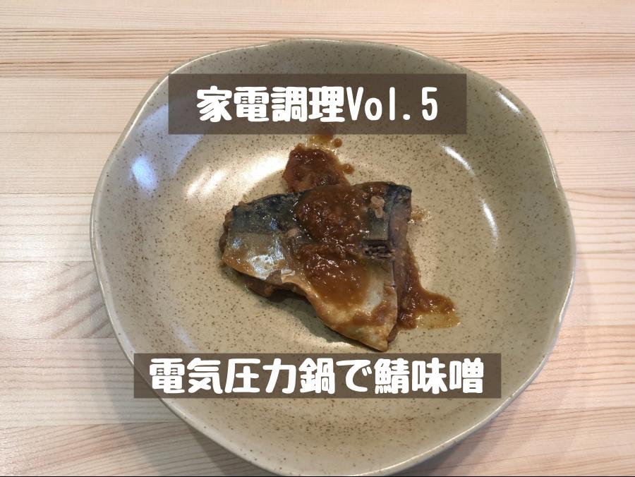 【時短調理】電気圧力鍋で鯖の味噌煮を作る【塩麹がポイント】